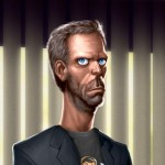Close de Gregory House - Ilustra??o