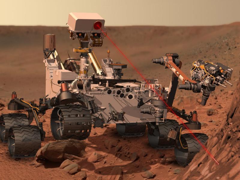 Concep??o art?stica: Curiosity em Marte
