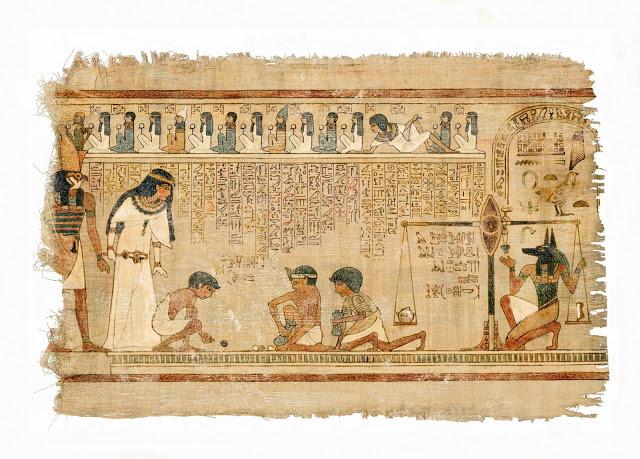 Imagem de um papiro eg?pcio