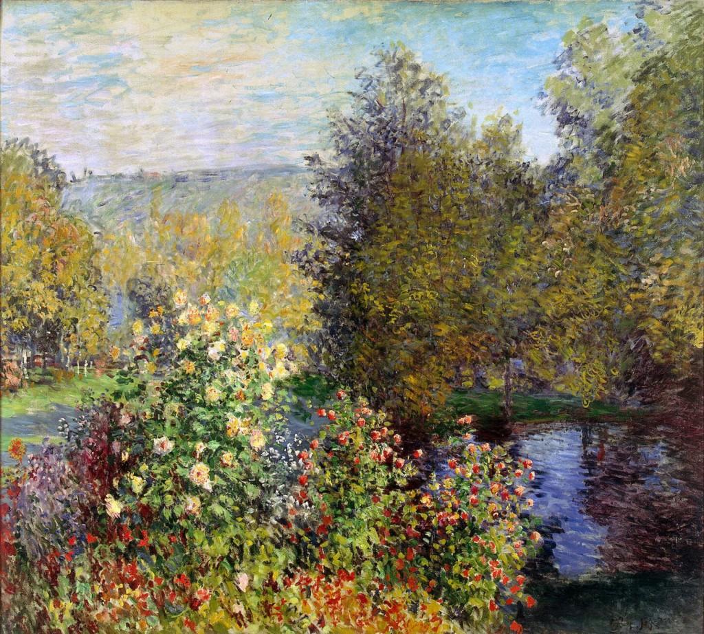 Pintura de Monet de um jardim em Montgeron