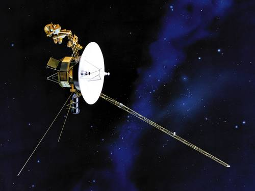 Voyager 1 - nossos olhos al�m do alcance... Fonte: Nasa